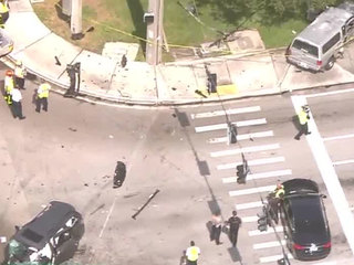 PHOTOS: Armed robbery, chase causes Boca crash