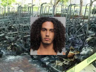 Arrest made in fire at Beckham stadium site