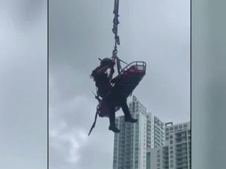 Miami high-rise rescue caught on camera