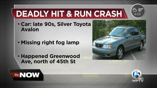 Driver Sought After Deadly Hit And Run Crash In West Palm Beach