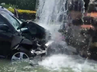 Vehicle crashes into waterfall in Atlantis