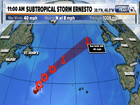 Subtropical Storm Ernesto forms