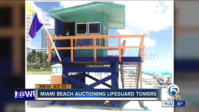 Miami Beach auctioning lifeguard towers
