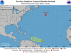 Tropical wave forms ESE of Windward Islands