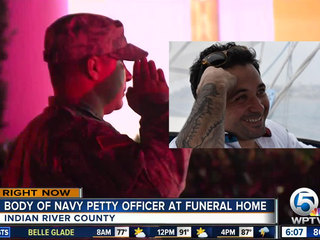 Body of Navy sailor returns home to Vero Beach