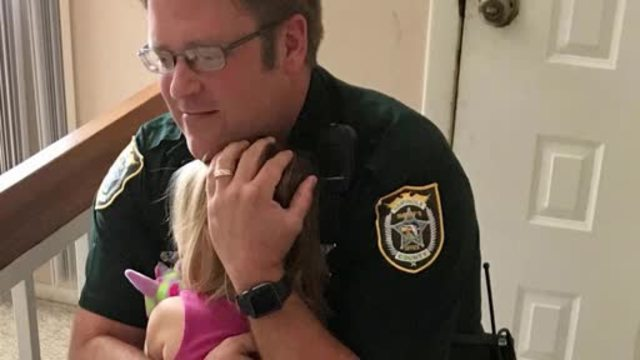 Deputy saves child from hot car