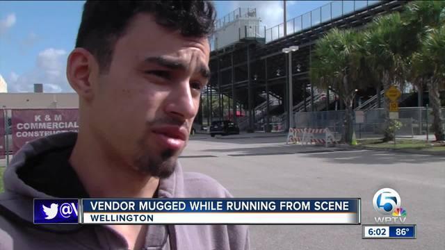 Vendor mugged during chaos following football game shooting Friday night