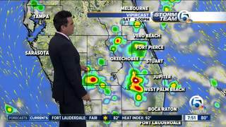 A few storms possible later today