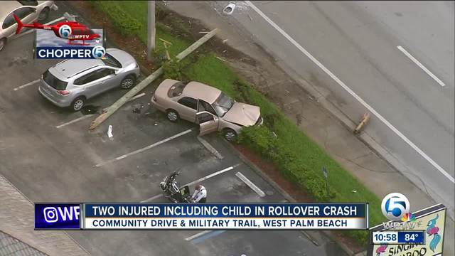 Ejected In Crash On I  Palm Beach County