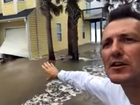 Local storm chaser documenting Florence damage