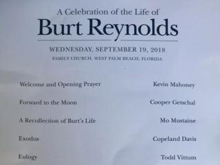 Funeral held in WPB for Burt Reynolds
