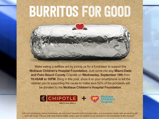 Support Nicklaus Children's Hospital at Chipotle