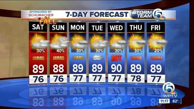 Latest Weather Forecast 11 p-m- Friday