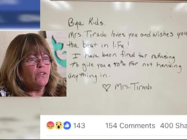 Teacher upset about 'no zero' grading policy