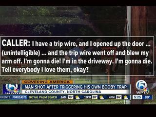 North Carolina man shot by his own booby trap