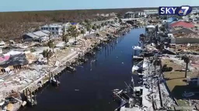 Stunning aerial video shows Mexico Beach before and after Hurricane Michael
