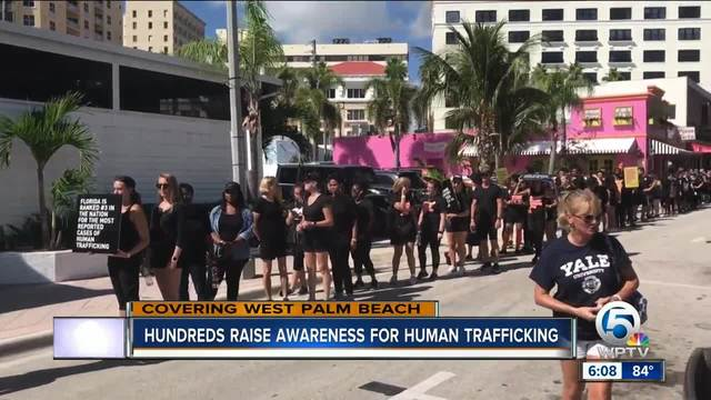 Hundreds raise awareness for human trafficking in West Palm Beach