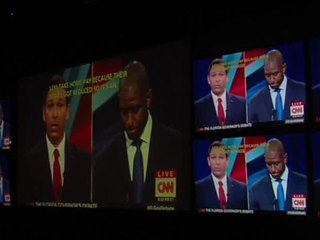 Watch party held in WPB for governor's debate