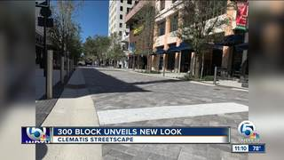Clematis Streetscape ribbon cutting on Nov. 1