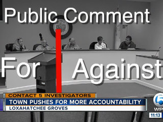 Lox Groves pushes for more accountability