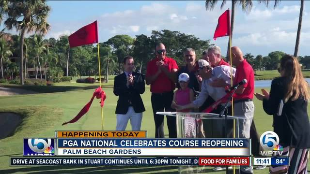 PGA National celebrates re-opening of golf course after renovations