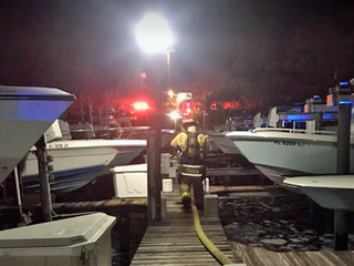 Fire destroys boats in Martin County