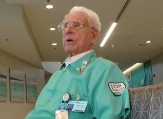 105-year-old WWII veteran continues to serve