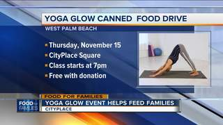 Yoga Glow event helps feed families