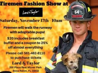 Firemen fashion show Saturday in Boca Raton