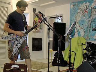 Former heavy metal bassist turns artist