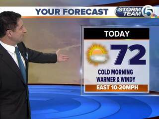 Cold morning temperatures, much warmer afternoon